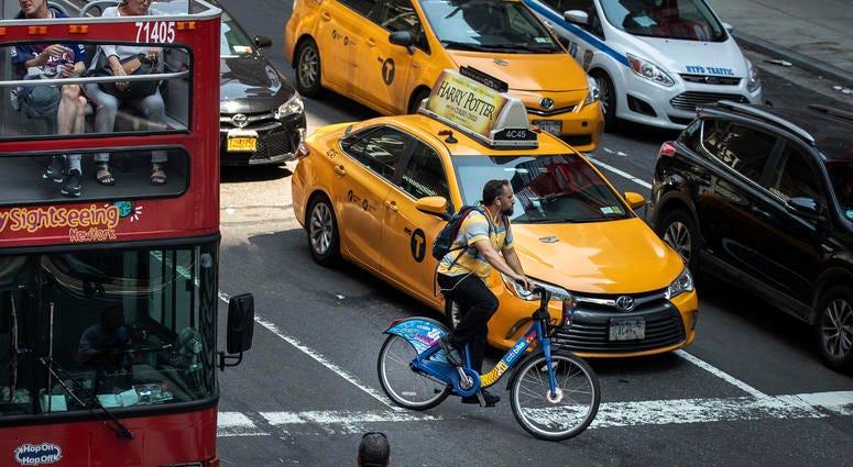 New York City bicyclist