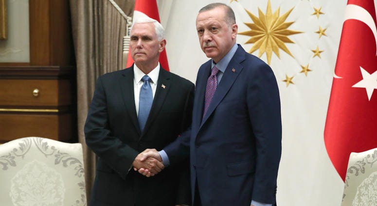 Vice President Mike Pence, Turkish President Recep Tayyip Erdogan