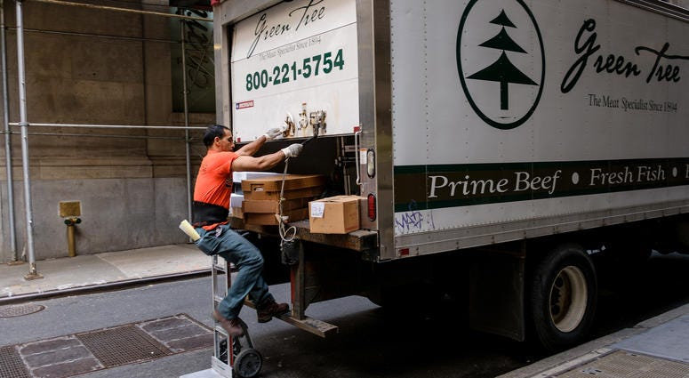 NYC delivery truck