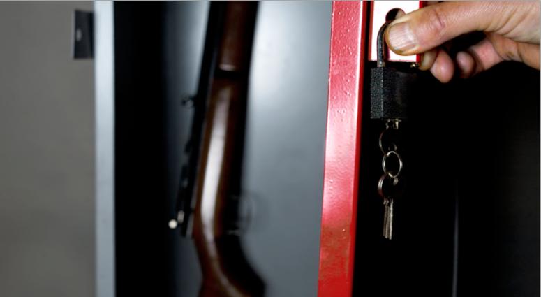 Gun lock box