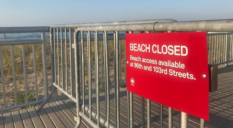 Rockaway Beach Closed
