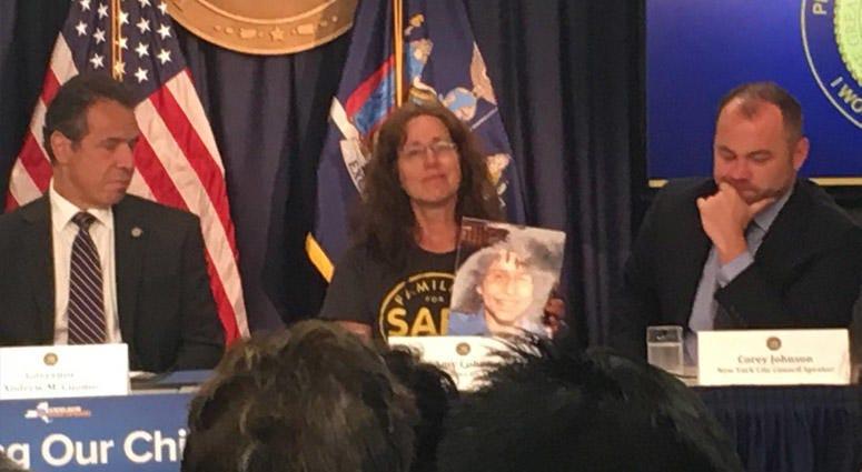Speed Cameras To Resume: Gov. Andrew Cuomo, Amy Cohen, City Council Speaker Corey Johnson
