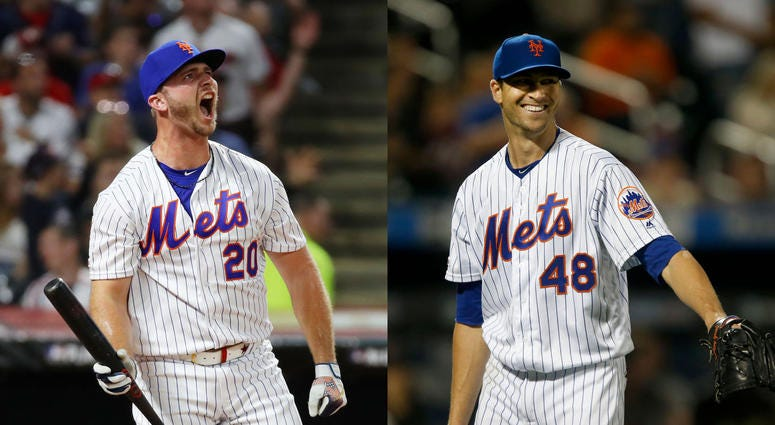 Pete Alonso and Jacob deGrom