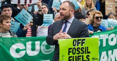 Corey Johnson Williams Pipeline Protest