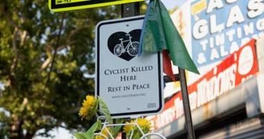 vigil for fallen cyclist