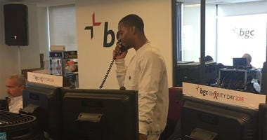 Cantor Fitzgerald Charity Day: Victor Cruz