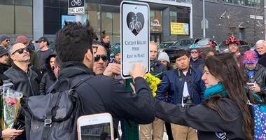 Queens Bicyclist killed vigil