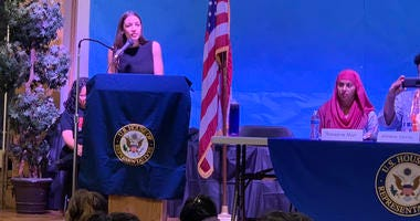 AOC at town hall