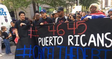 Hurricane Maria protest