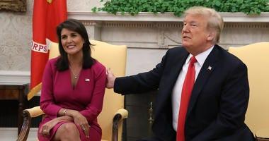 Nikki Haley and President Trump