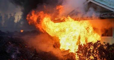 Hawaii Lava Fire