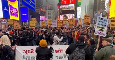 Anti-war protest Times Square