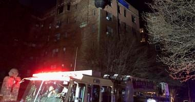 Fire in Yonkers apartment building