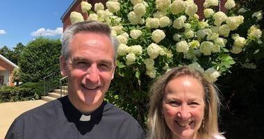 Fr Stephen Fichter and Kathe Carson