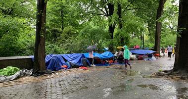 BTS fans in Central Park