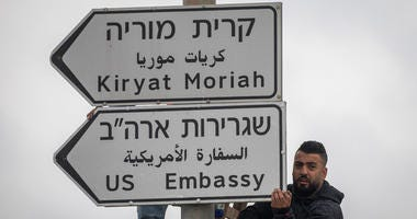 Jerusalem Embassy Signs