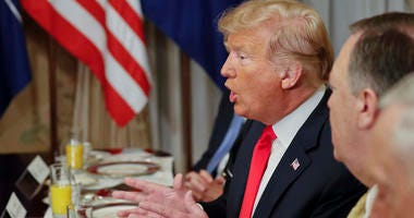President Donald Trump At NATO Summit