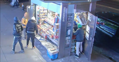 Newsstand robbery spree