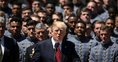 President Donald Trump Honors Army Football Team