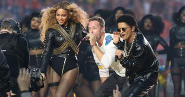 Beyonce, Bruno Mars and Chris Martin