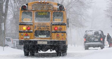 School Bus Snow Storm