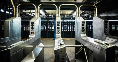 New York City subway turnstile