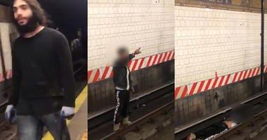 Suspect subway pusher