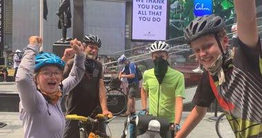 teens bike across country