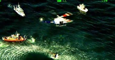 boat capsizes Long Island Sound