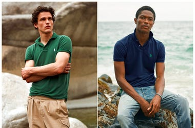 Ralph Lauren shows Polo shirts made from recycled plastic bottles