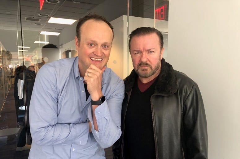 Brad Blanks and Ricky Gervais