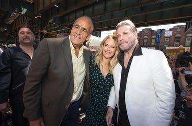 Joe Causi, John Travolta and Kelly Preston