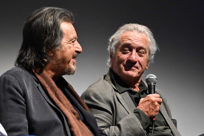 Al Pacino and Robert De Niro at 'The Irishman' press conference