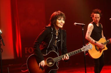 Joan Jett and the Blackhearts perform onstage during the USO 75th Anniversary Armed Forces Gala & Gold Medal Dinner