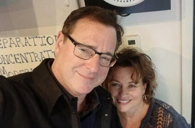 Bob Saget and Patty Steele at WCBS-FM