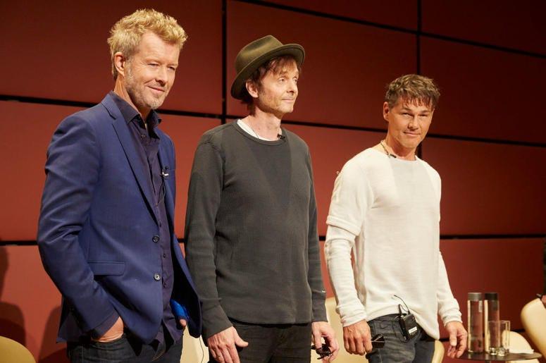 Magne Furuholmen, Pal Waaktaar-Savoy, and Morten Harket of a-ha