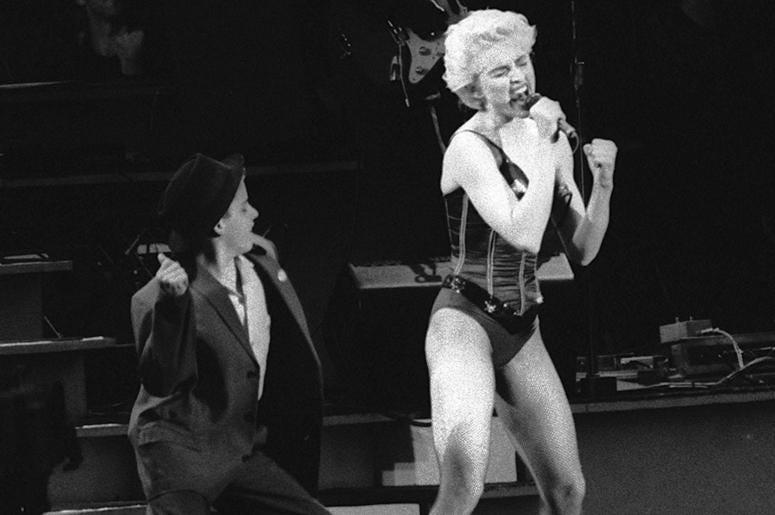 Madonna on stage 1987