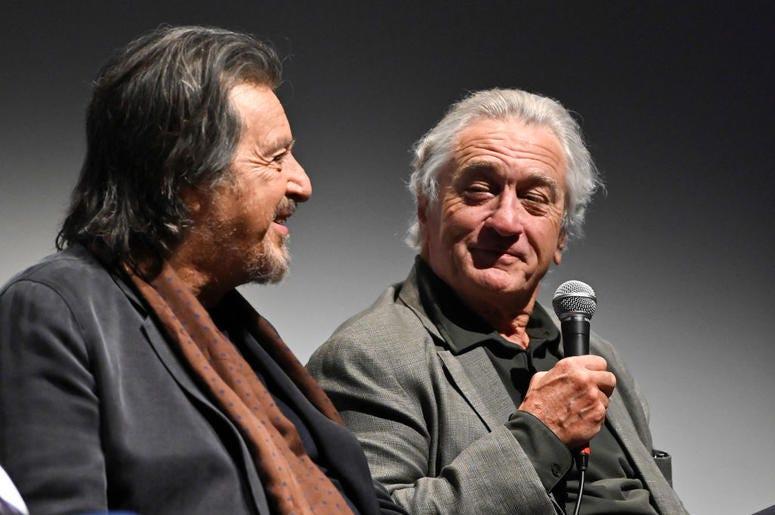 Al Pacino and Robert De Niro at 'The Irishman' press conference