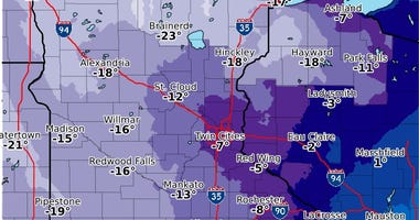 2-13-20 Forecast Lows