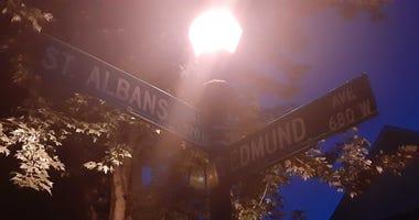 St. Albans and Edmund Street Sign