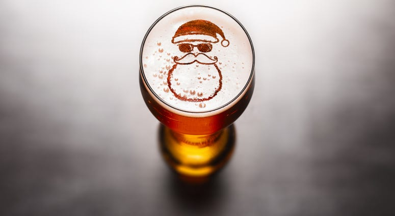 Christmas, Beer, Santa