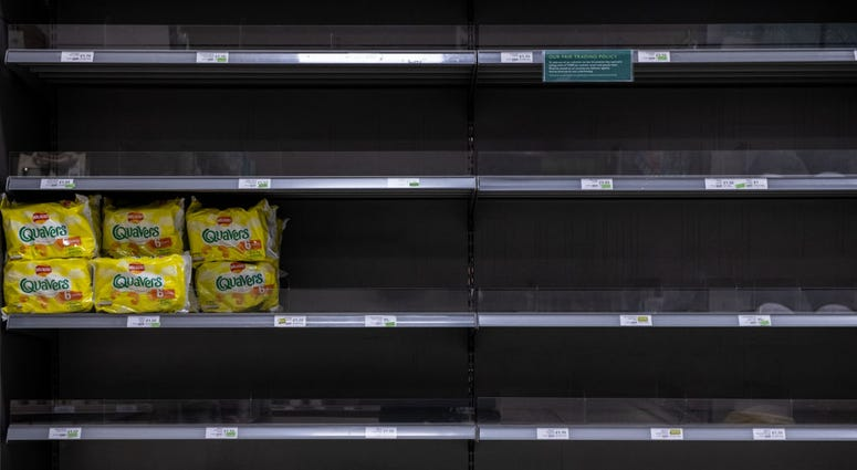 Grocery store empty shelves