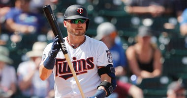 Josh Donaldson #24 of the Minnesota Twins at bat against the Philadelphia Phillies during the first inning of a Grapefruit League spring training game at Hammond Stadium on February 26, 2020 in Fort Myers, Florida.