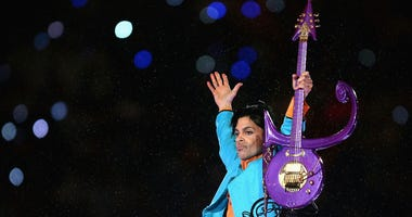 """Prince performs during the """"Pepsi Halftime Show"""" at Super Bowl XLI"""
