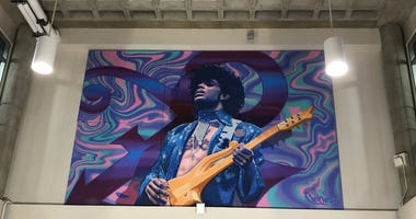 Prince mural installation MSP