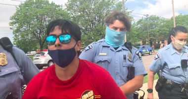 Minneapolis riot arrest