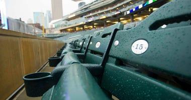Target Field seats, empty