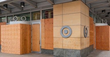 Target Headquarters boarded up