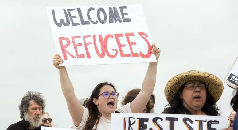 Demonstration at border