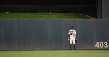 Ryan LaMarre watches Francisco Lindor's go-ahead homer